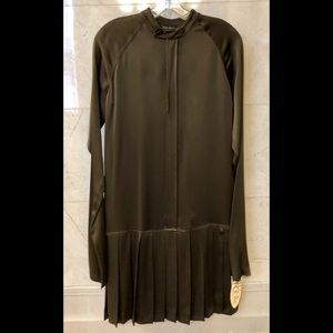Forest Green Dress with Gorgeous Pleats